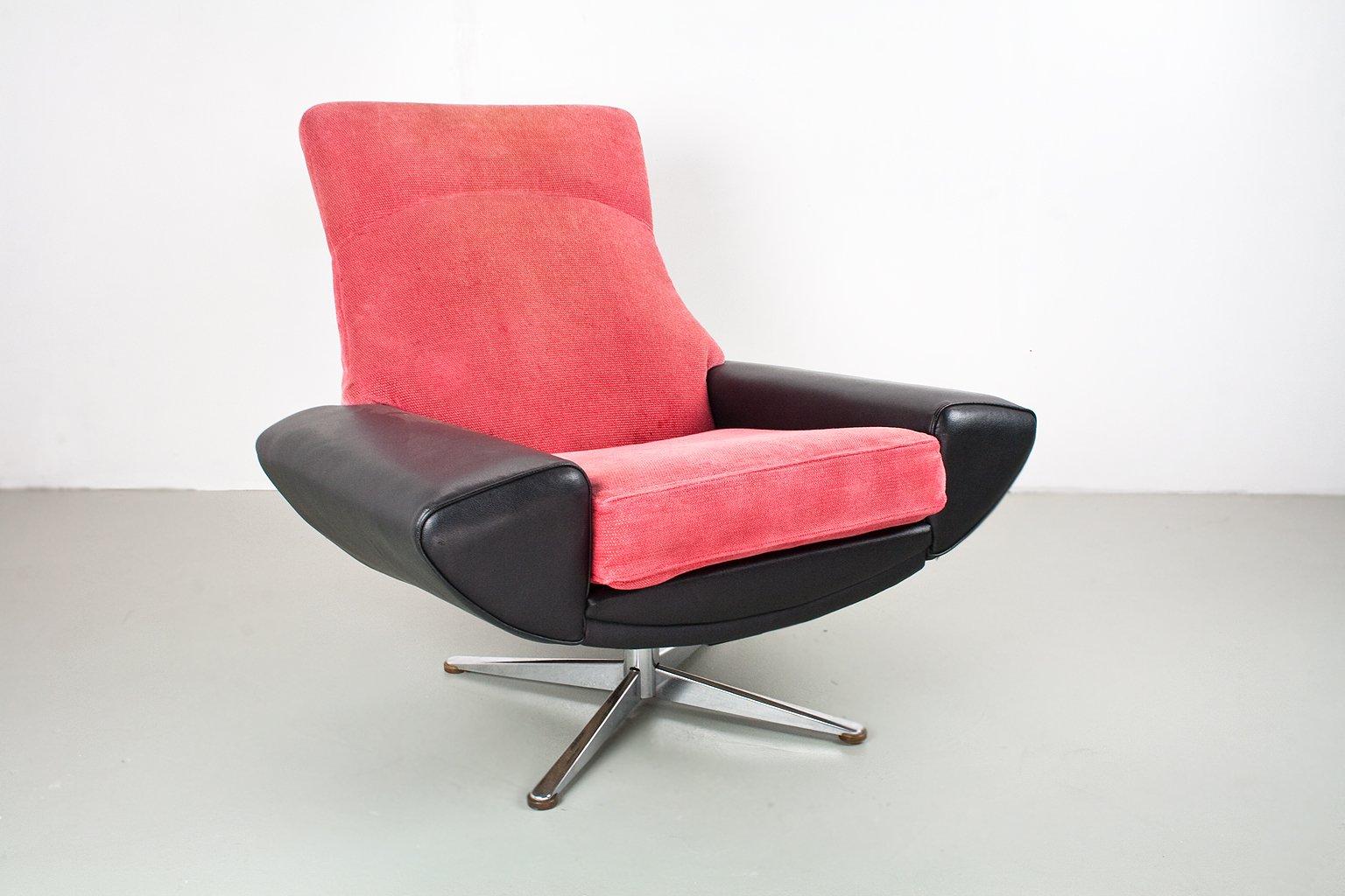 Mid Century Capri High Back Swivel Lounge Chair By Johannes Andersen For Ab  Trensums Fåtöljfabrik
