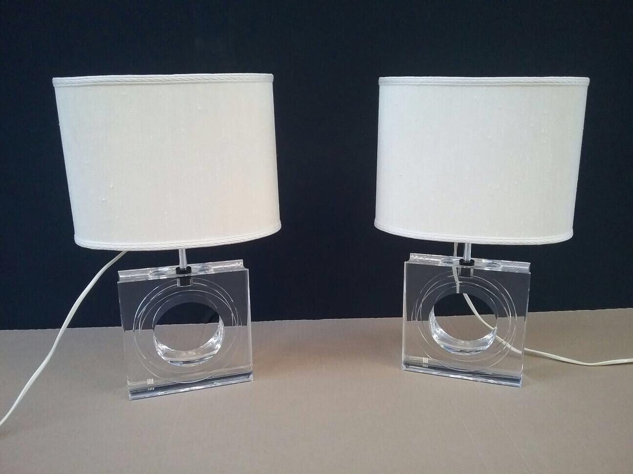 Lampade da tavolo vintage in plexiglas di antonio felice - Lampade da tavolo vintage ...
