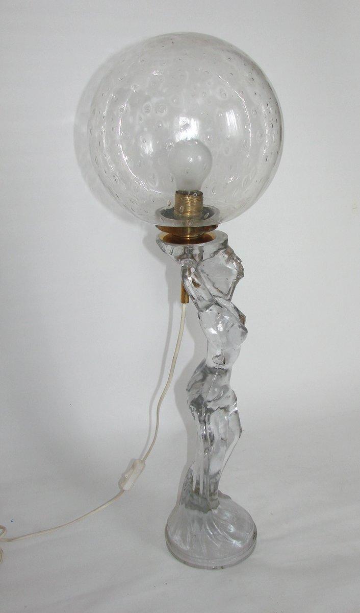 moderne glas lampe 1970er bei pamono kaufen. Black Bedroom Furniture Sets. Home Design Ideas