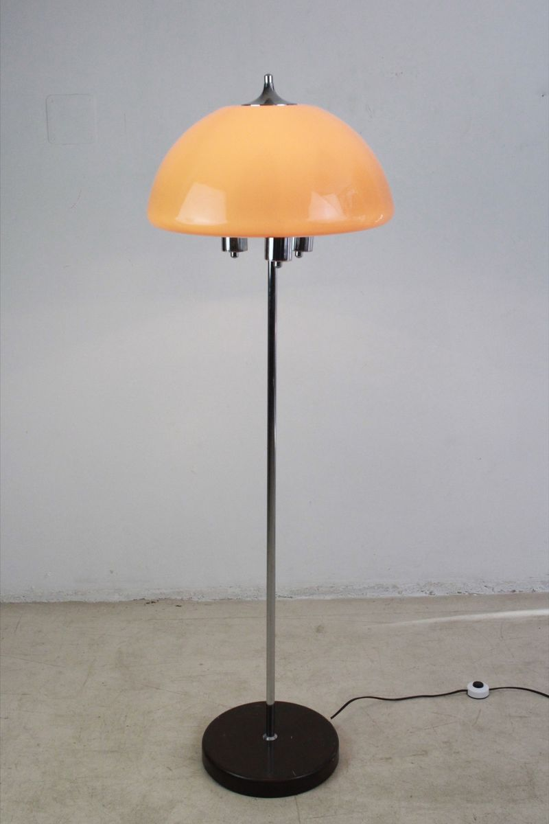 Chrome Floor Lamp With Peach Colored Shade 1960s 7 Price 930 00 Regular 1 181