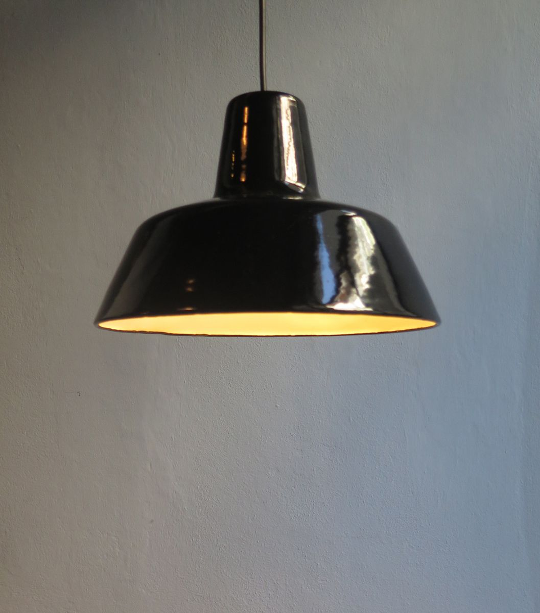 lighting light industrial small products retro enameled ceiling grey enamel pendant