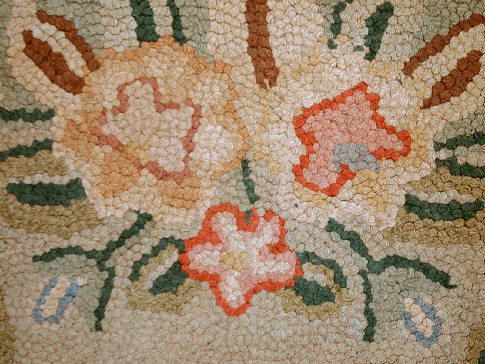 handgekn pfter amerikanischer ovaler teppich 1930er bei pamono kaufen. Black Bedroom Furniture Sets. Home Design Ideas