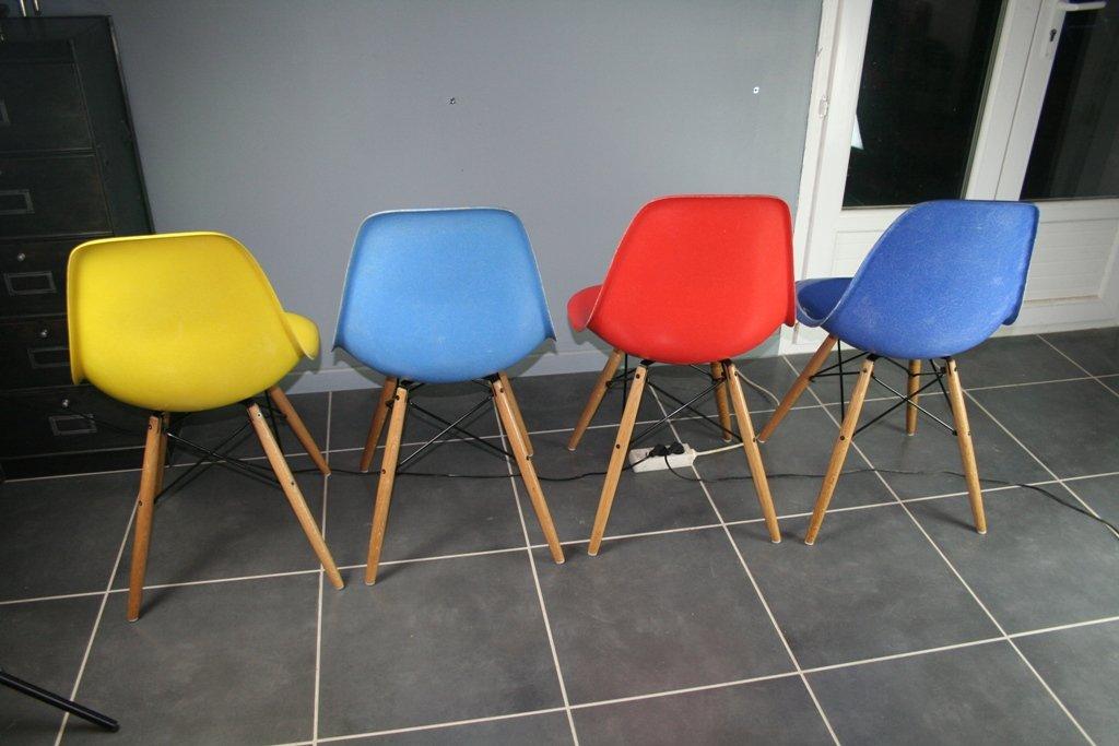 vintage dsw st hle von charles ray eames f r herman. Black Bedroom Furniture Sets. Home Design Ideas
