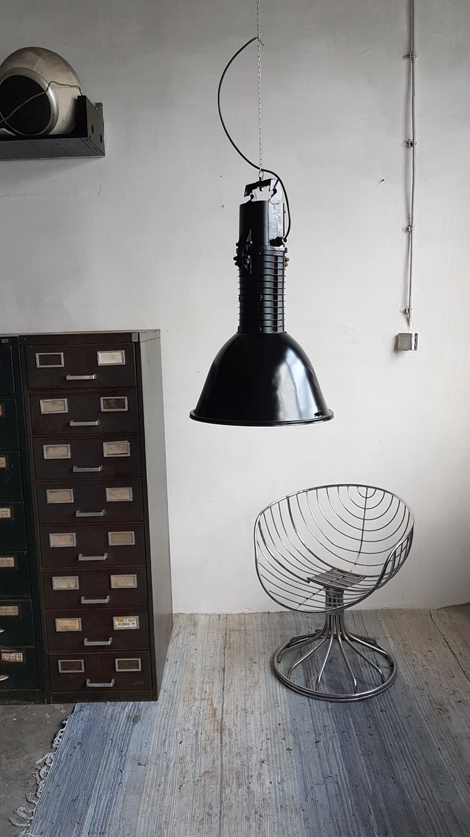 grande lampe industrielle d usine par polam elgo 1987 en vente sur pamono. Black Bedroom Furniture Sets. Home Design Ideas