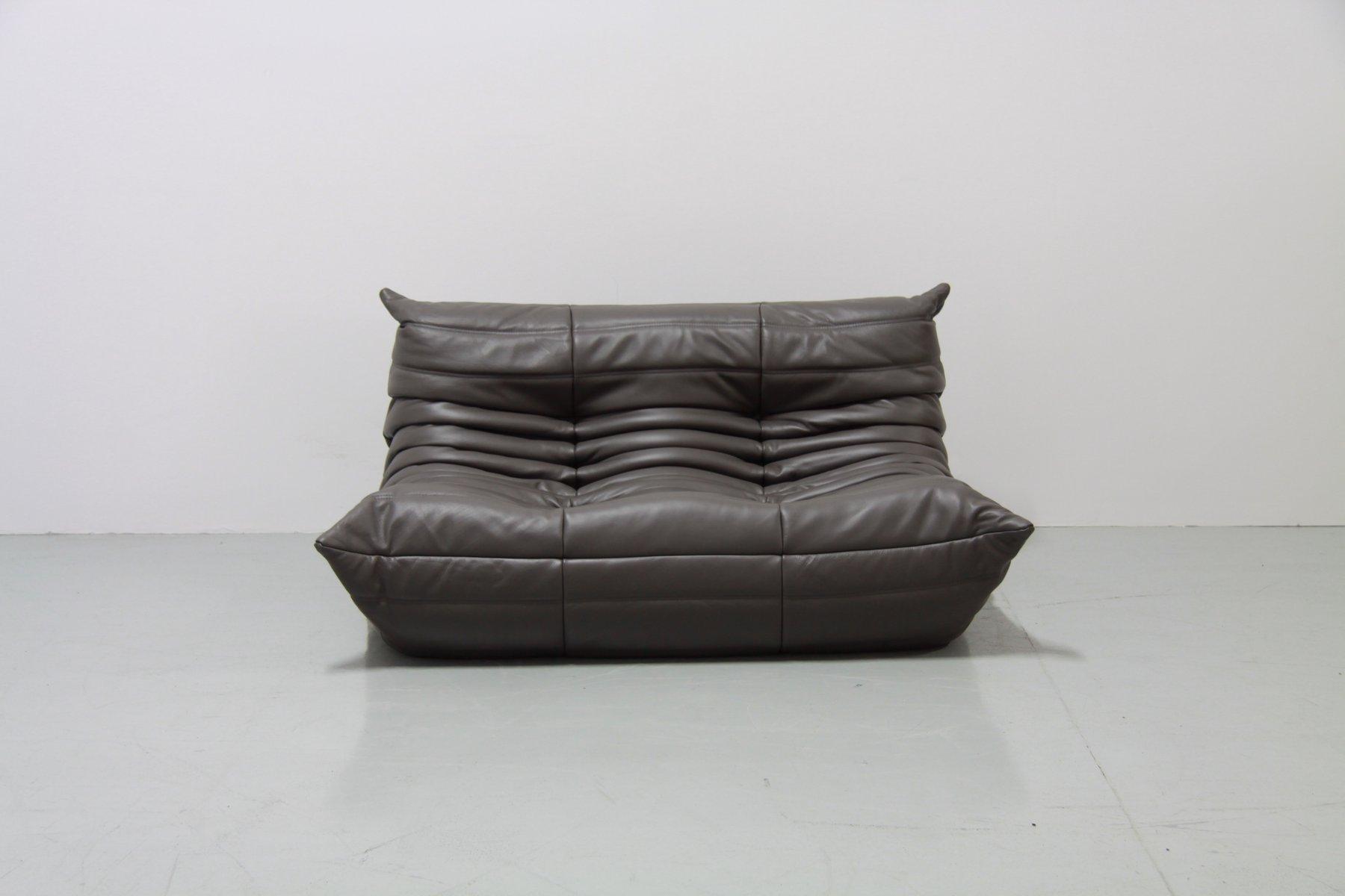 vintage graphit togo ledersofa set von michel ducaroy f r ligne roset 1970er bei pamono kaufen. Black Bedroom Furniture Sets. Home Design Ideas