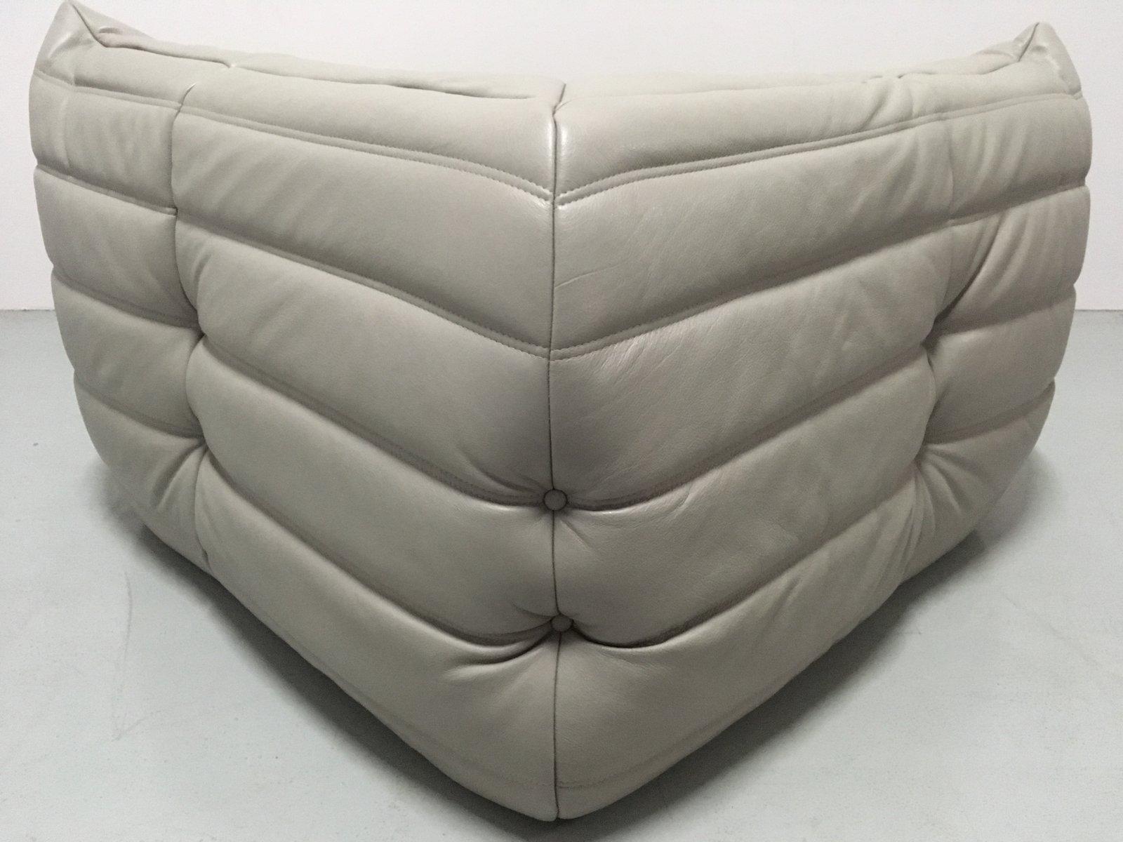 Grey leather living room set