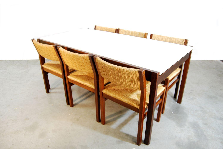 niederl ndischer weng esstisch von cees braakman f r pastoe 1970er bei pamono kaufen. Black Bedroom Furniture Sets. Home Design Ideas