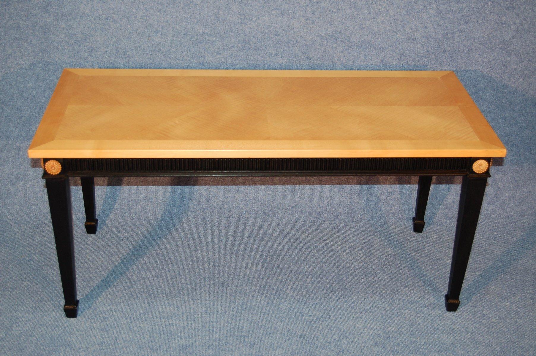 couchtisch aus bergahorn schwarzem holz 1940er bei pamono kaufen. Black Bedroom Furniture Sets. Home Design Ideas