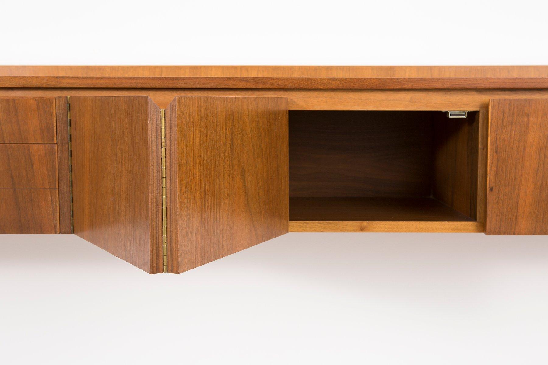 schwebendes mid century regalsystem von paul mccobb f r calvin bei pamono kaufen. Black Bedroom Furniture Sets. Home Design Ideas