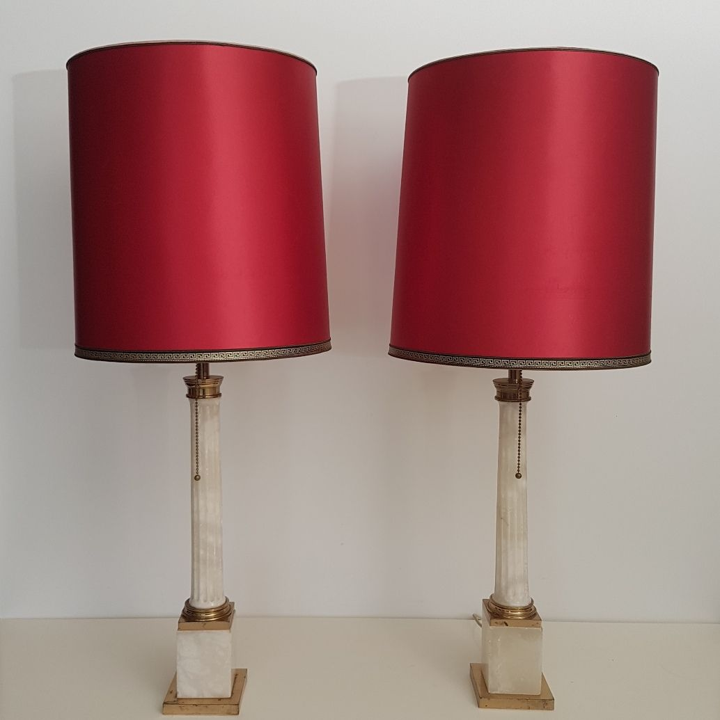 Large neoclassical marble brass table lamps 1960s set of 2 for large neoclassical marble brass table lamps 1960s set of 2 for sale at pamono aloadofball Gallery
