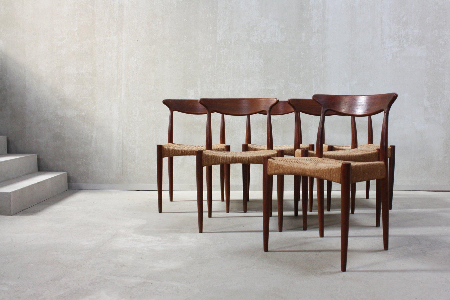 Skandinavische Esszimmerstühle Von Arne Hovmand Olsen Für Mogens Kold,  1960er, 6er Set