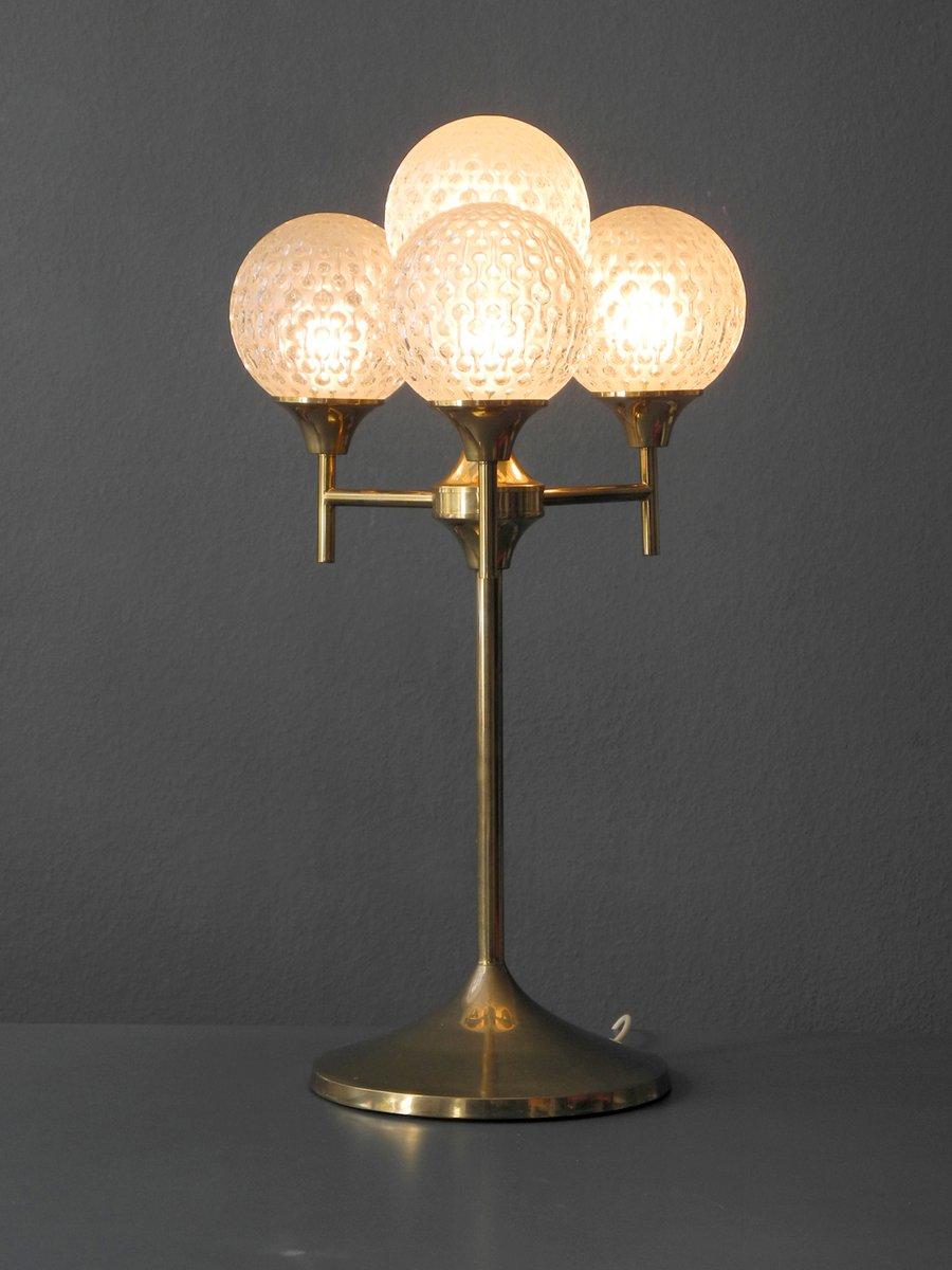 gro e lampe aus messing und glas 1960er bei pamono kaufen. Black Bedroom Furniture Sets. Home Design Ideas