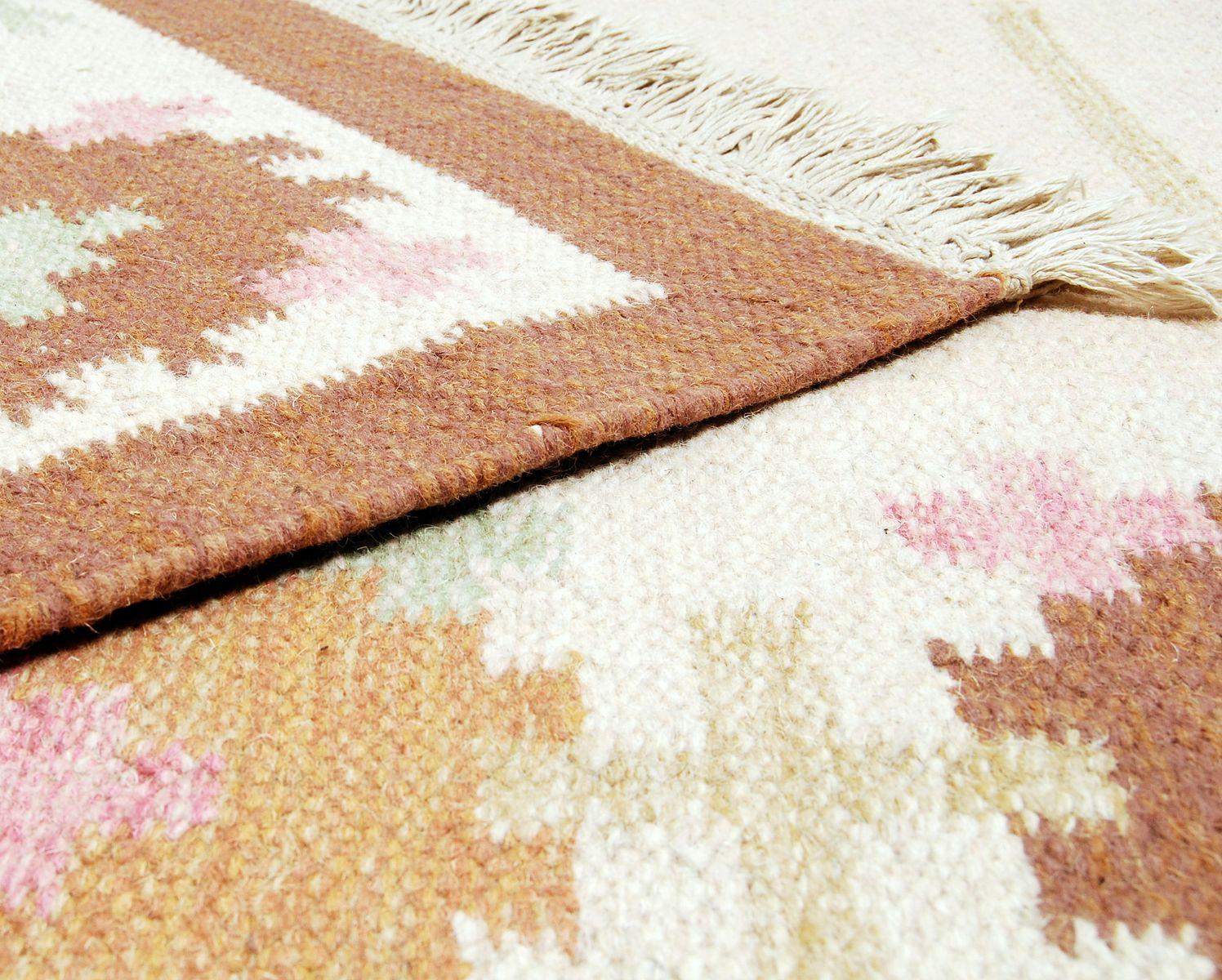 schwedischer vintage r lakan flachgewebe teppich 1960er bei pamono kaufen. Black Bedroom Furniture Sets. Home Design Ideas