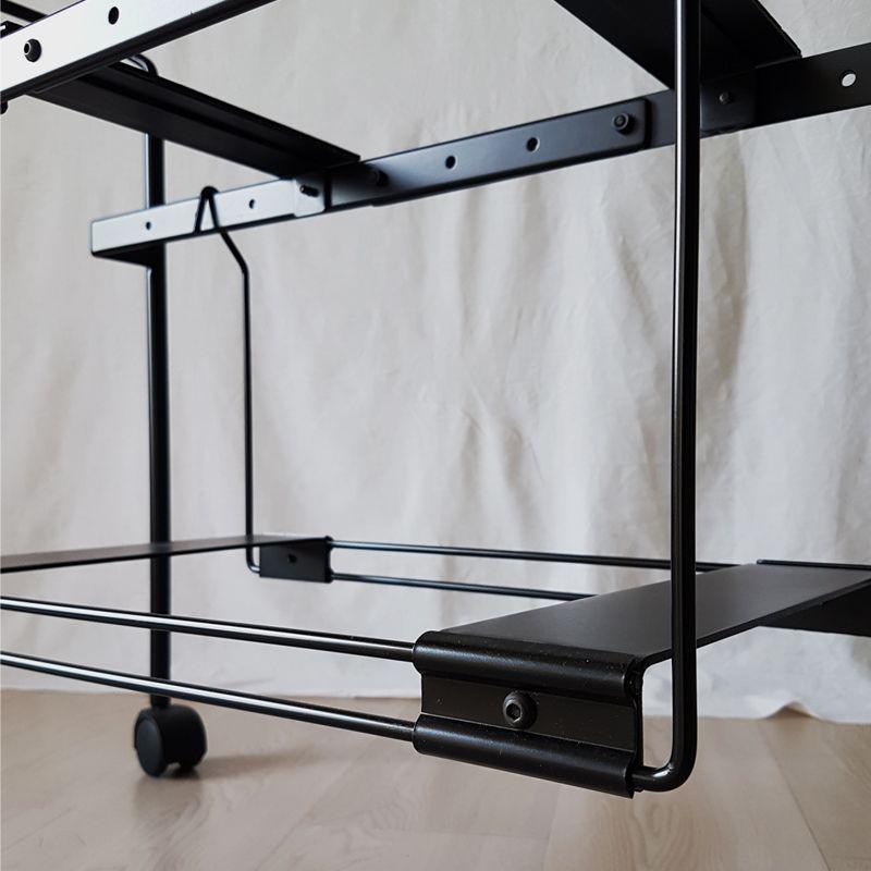 Carrello porta TV Teulada allungabile in acciaio smaltato nero di ...