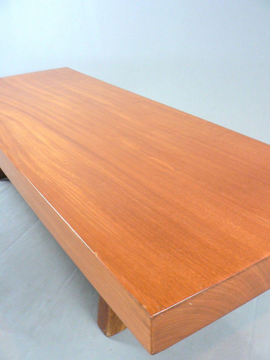 table basse vintage en bois massif en vente sur pamono. Black Bedroom Furniture Sets. Home Design Ideas