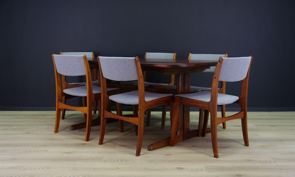 d nische mid century st hle von skovby 6er set bei pamono kaufen. Black Bedroom Furniture Sets. Home Design Ideas