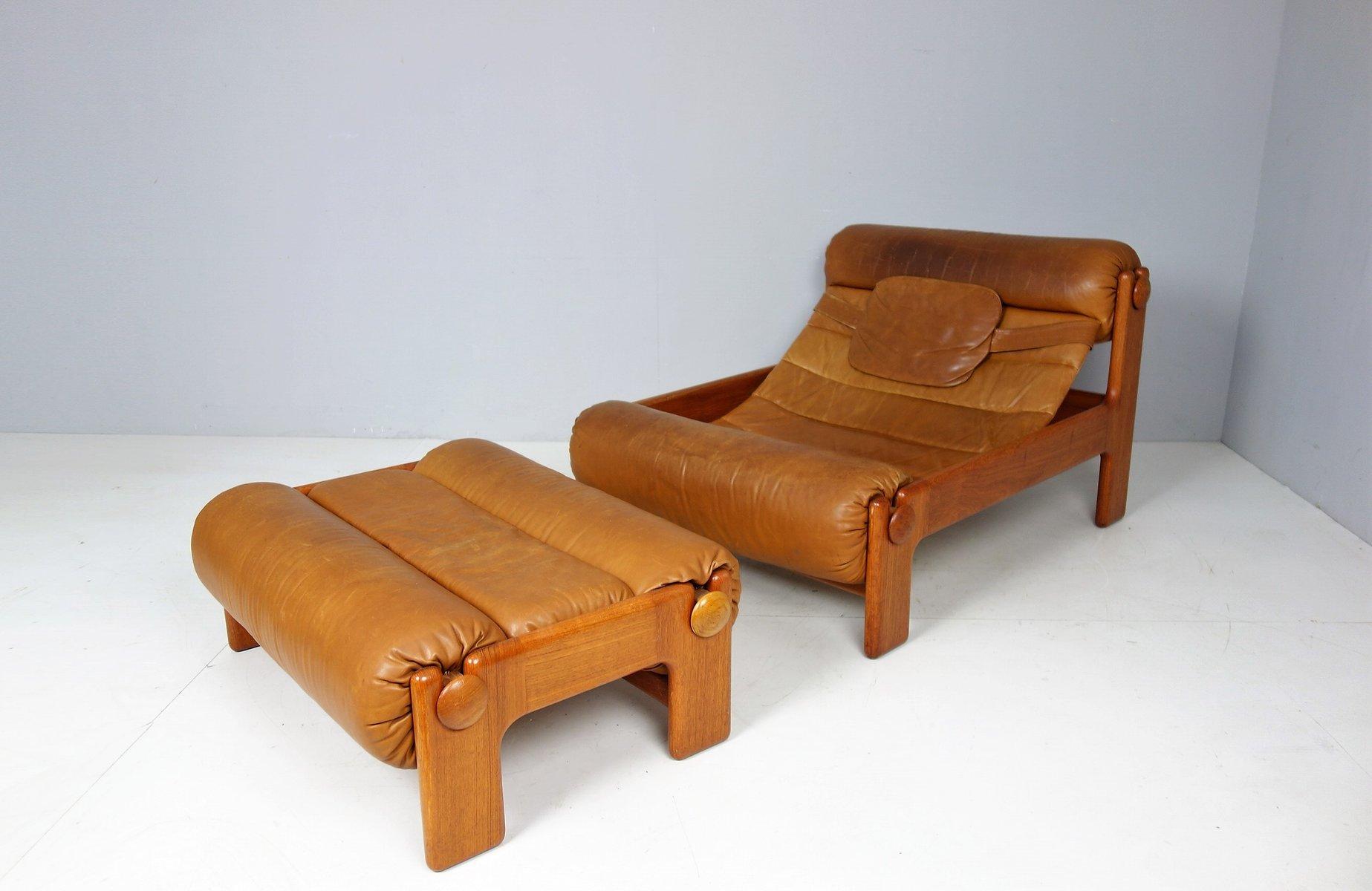 Vintage Swedish Lounge Chair U0026 Ottoman, 1960s