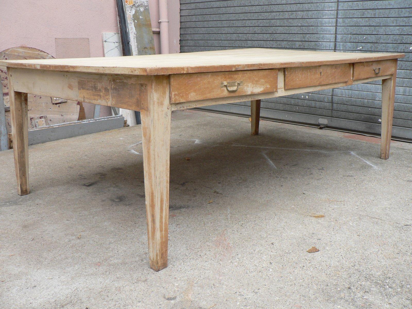 Grande Table Vintage en Bois Fruitier en vente sur Pamono