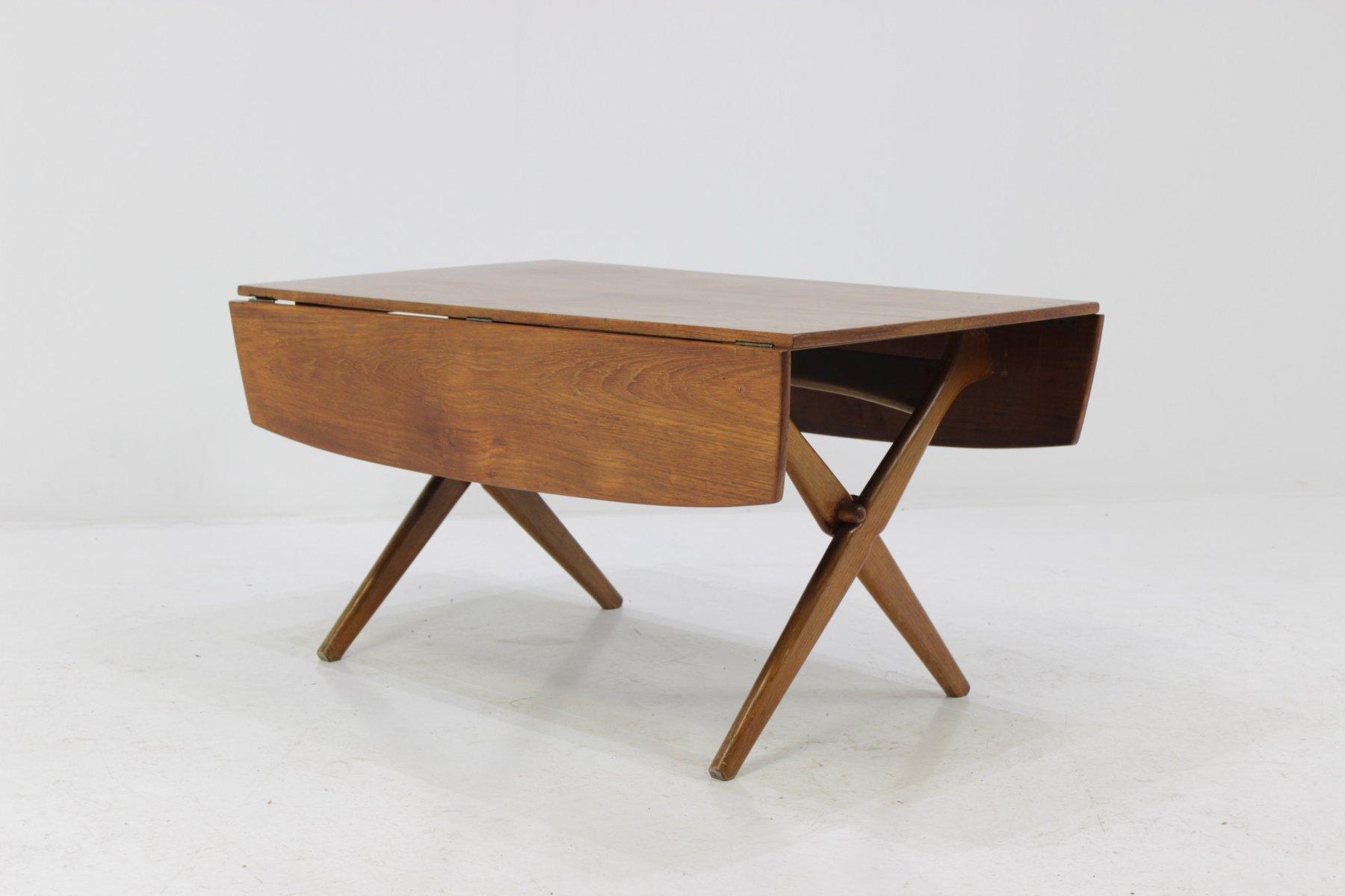 Tavolino da caff allungabile in teak anni 39 60 in vendita for Tavolino anni 60 design