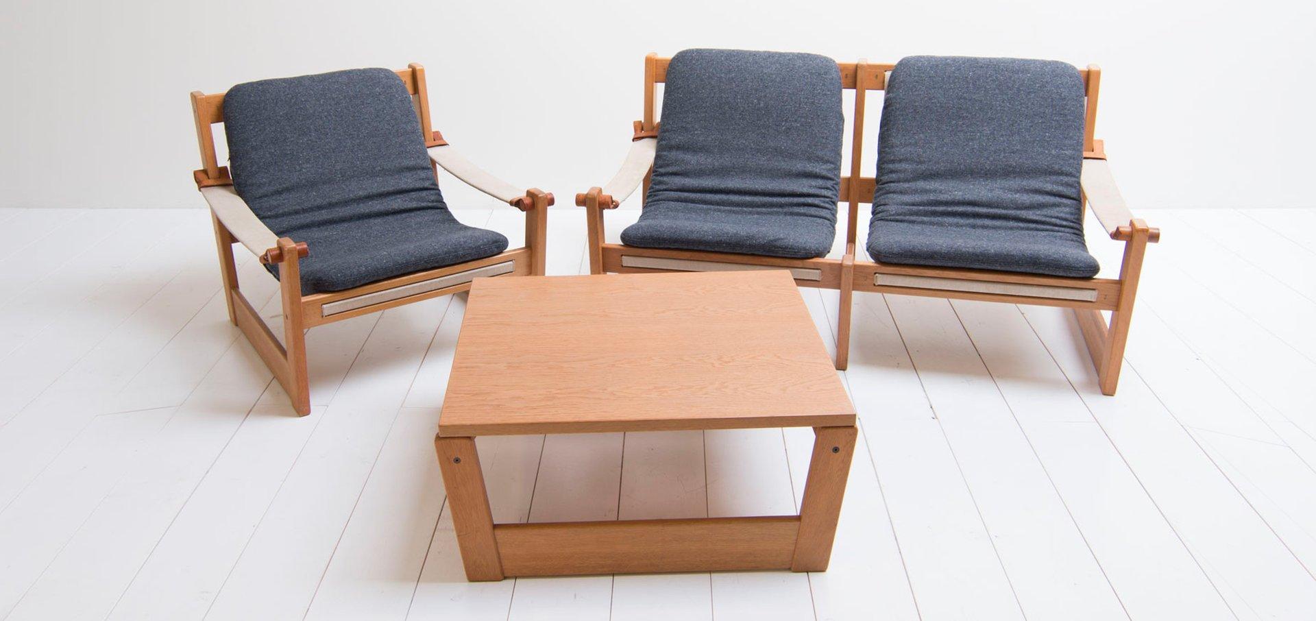 Vintage Living Room Set by Yngve Ekström for Swedese, Set of 3 for ...
