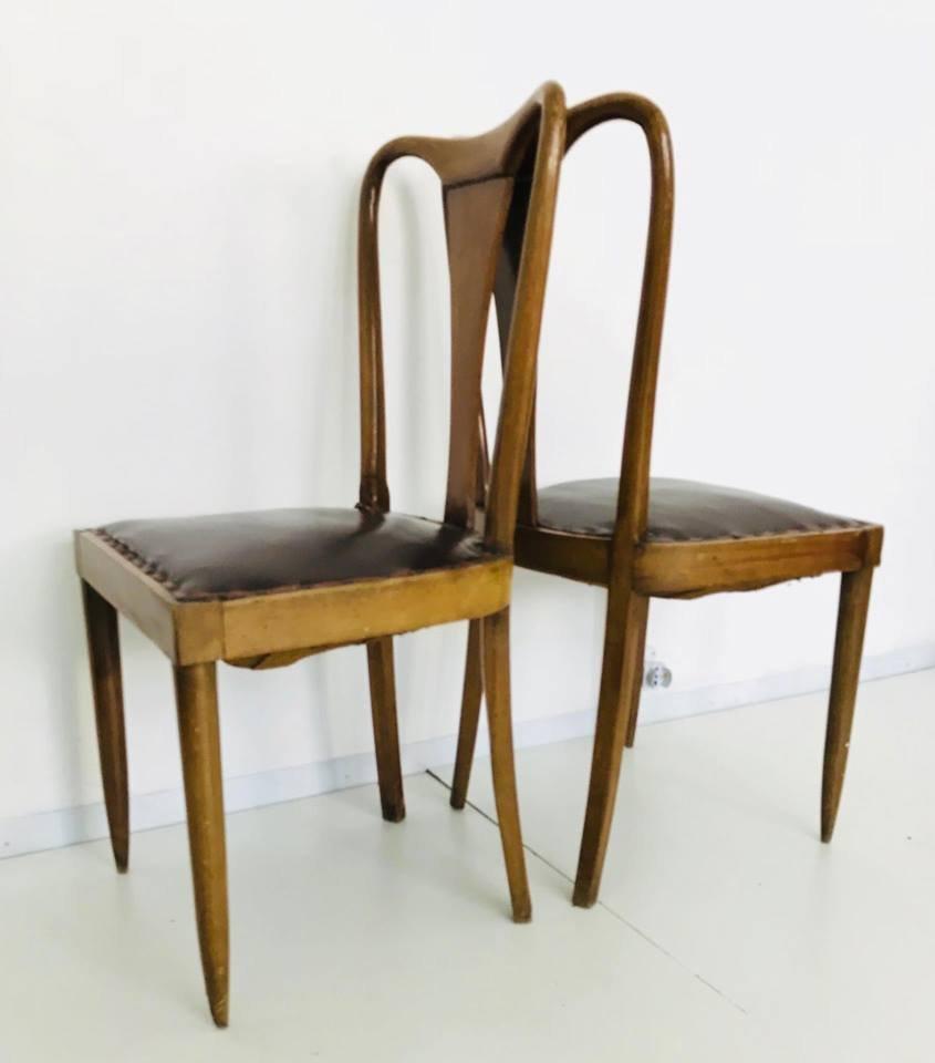 mid century st hle 1940er 4er set bei pamono kaufen. Black Bedroom Furniture Sets. Home Design Ideas