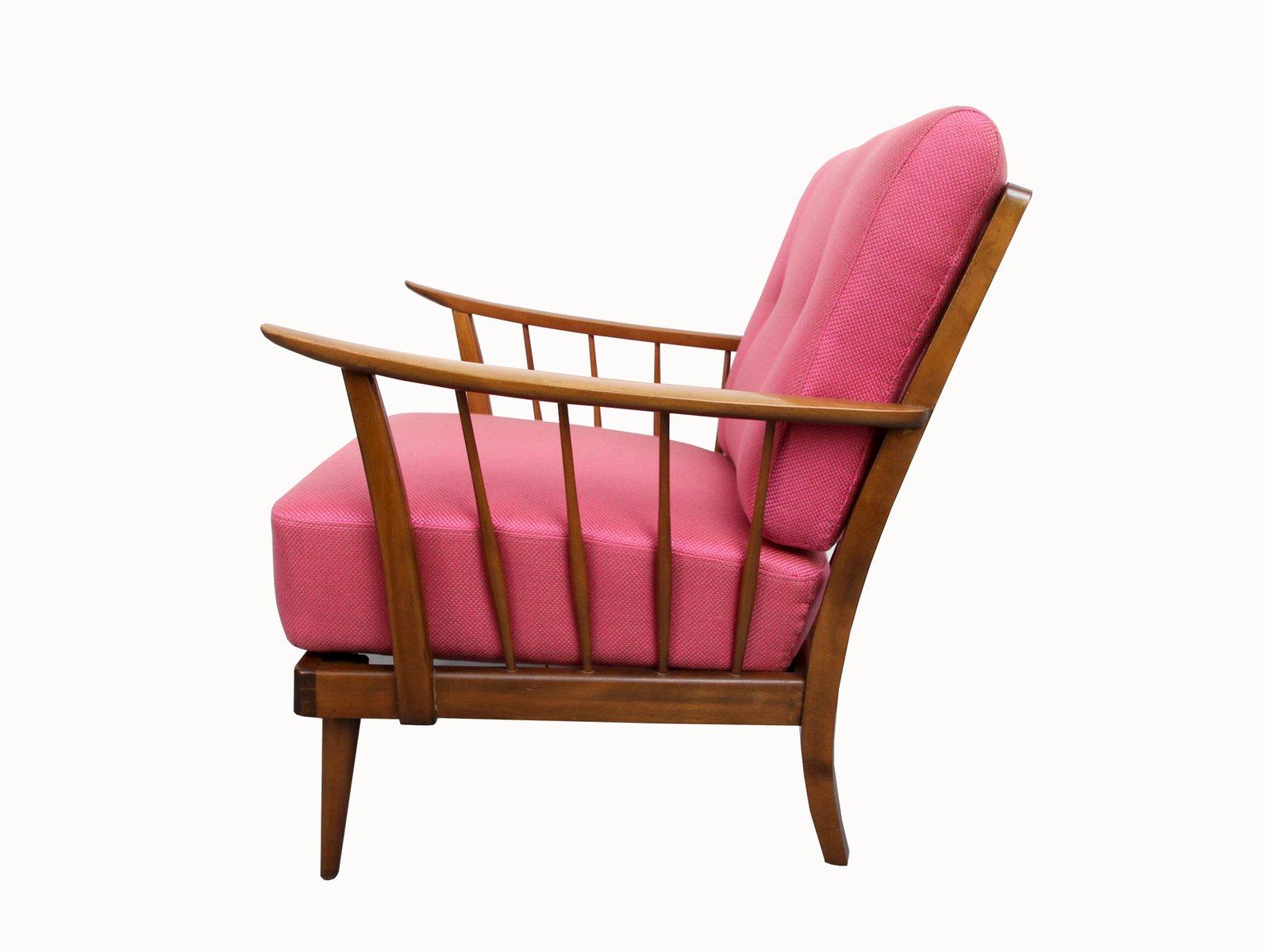 Elegant Pink Armchair, 1950s