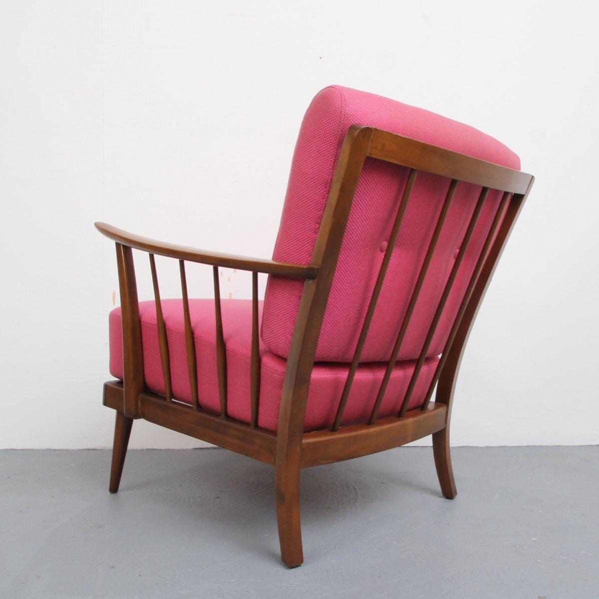 rosa sessel 1950er bei pamono kaufen. Black Bedroom Furniture Sets. Home Design Ideas