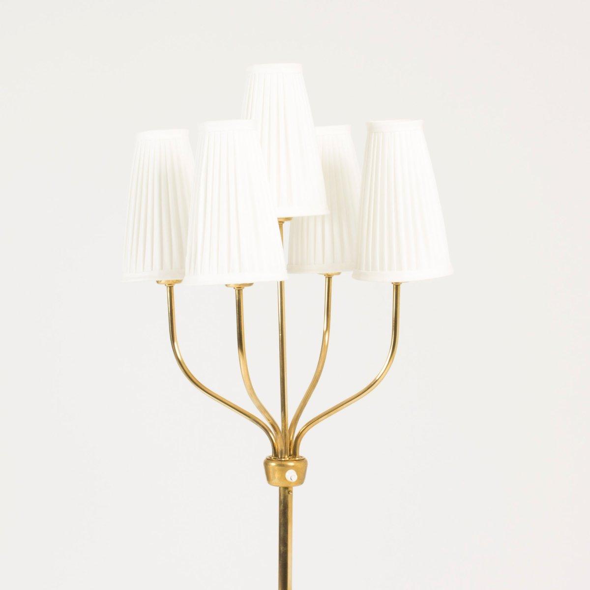 Stehlampe mit 5 schirmen von hans bergstr m f r atelji for Lampe mit mehreren schirmen