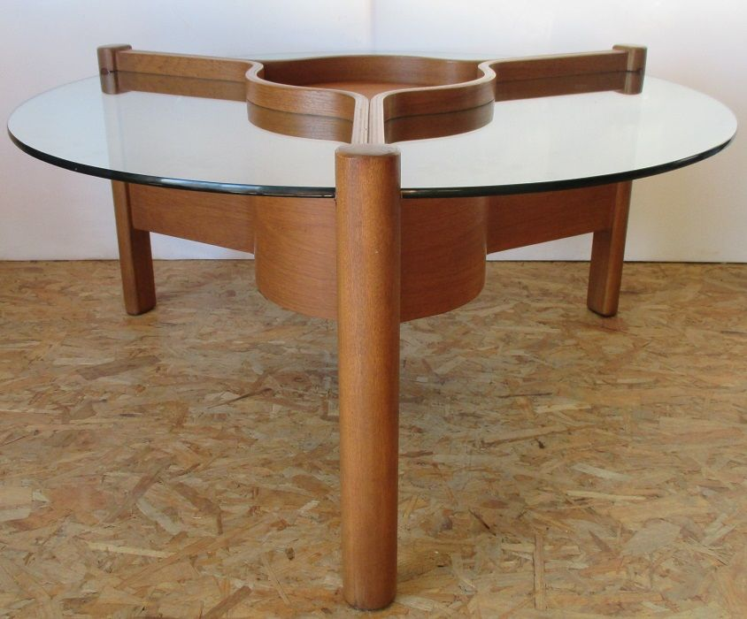 MidCentury Round Sputnik Coffee Table from Nathan Furniture for