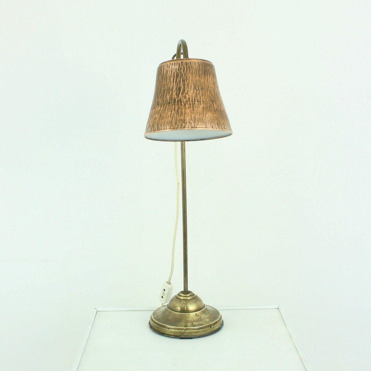 messing kupfer tischlampe 1920er bei pamono kaufen. Black Bedroom Furniture Sets. Home Design Ideas