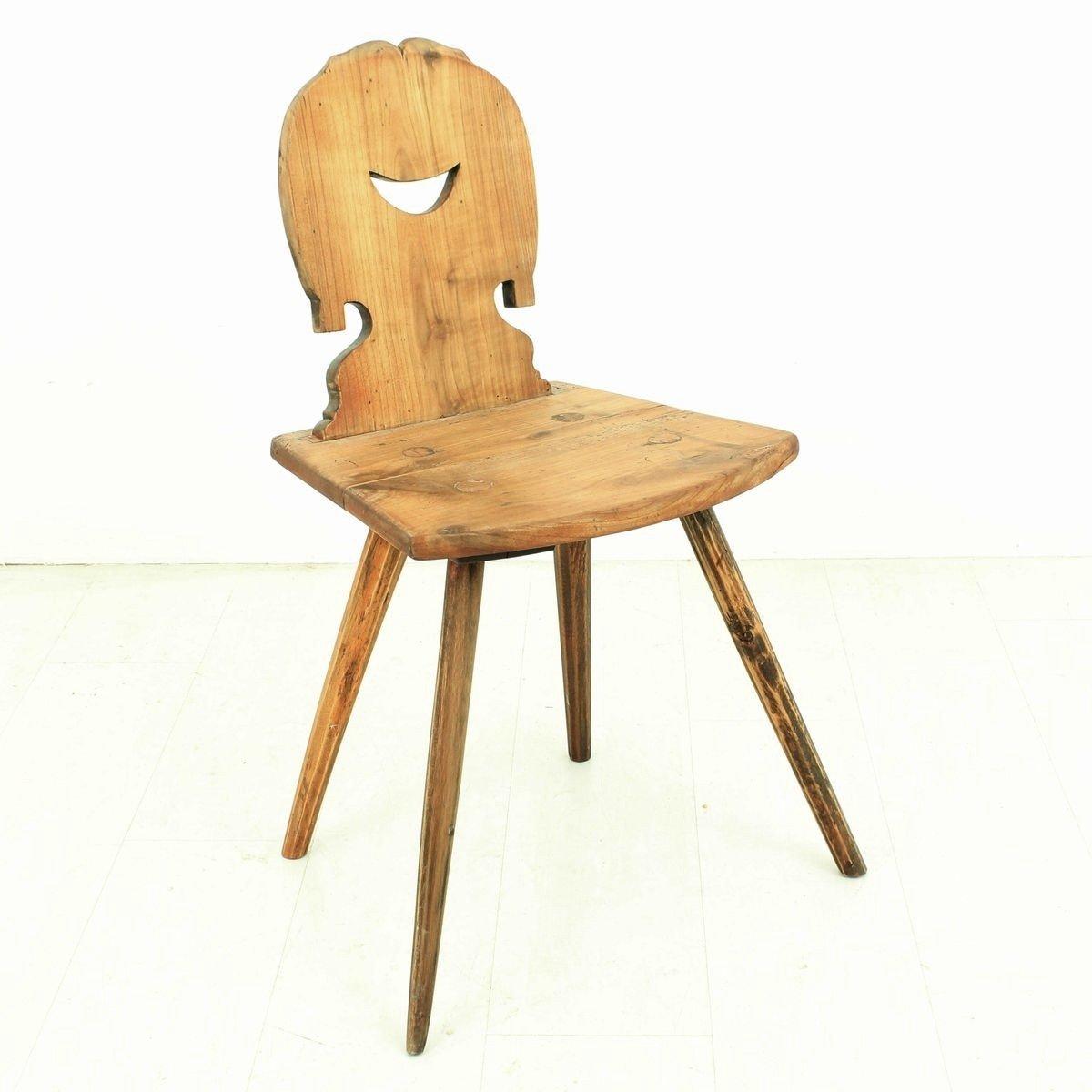 antiker kirschholz stuhl 1850er bei pamono kaufen. Black Bedroom Furniture Sets. Home Design Ideas