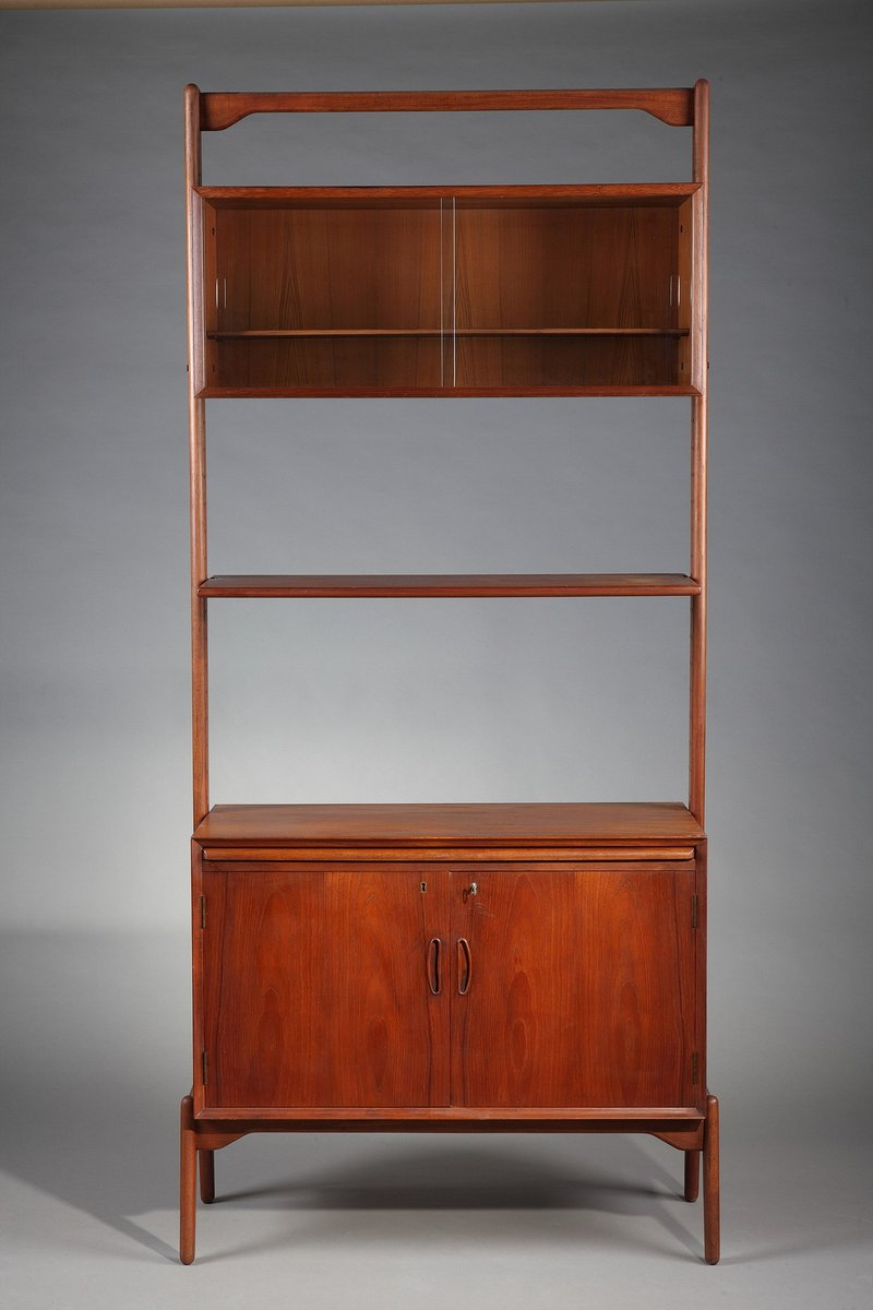 d nisches modulares teak regal 1970er bei pamono kaufen. Black Bedroom Furniture Sets. Home Design Ideas