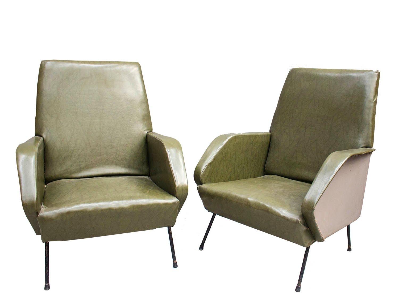Italienische sessel 1960er 2er set bei pamono kaufen for Italienische sessel design