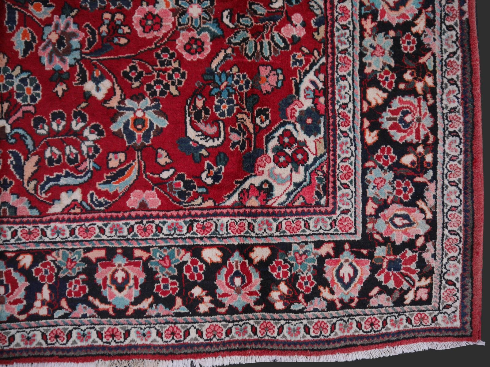 Mid Century Hand Knotted Sarouk Mahal Persian Rug