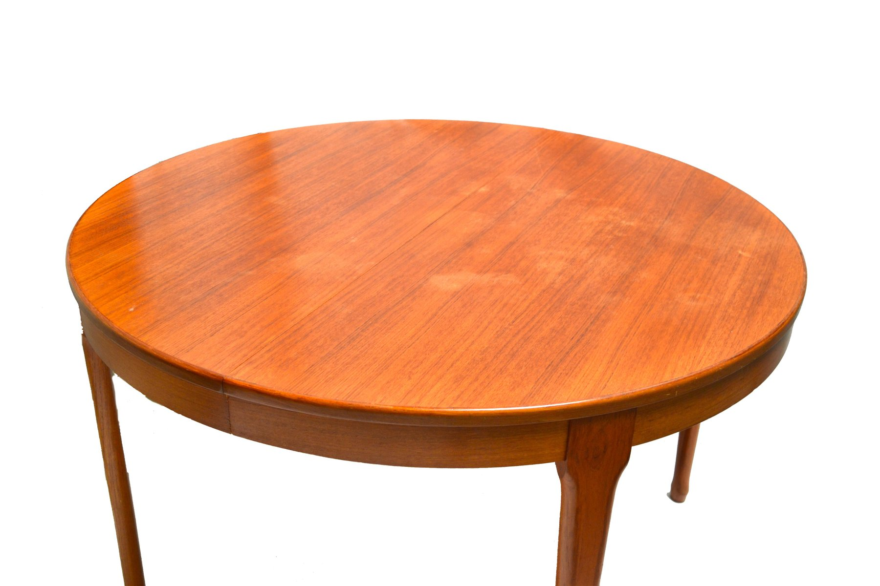 Vintage extendable round dining table from meubles tv for for Ameublement retro