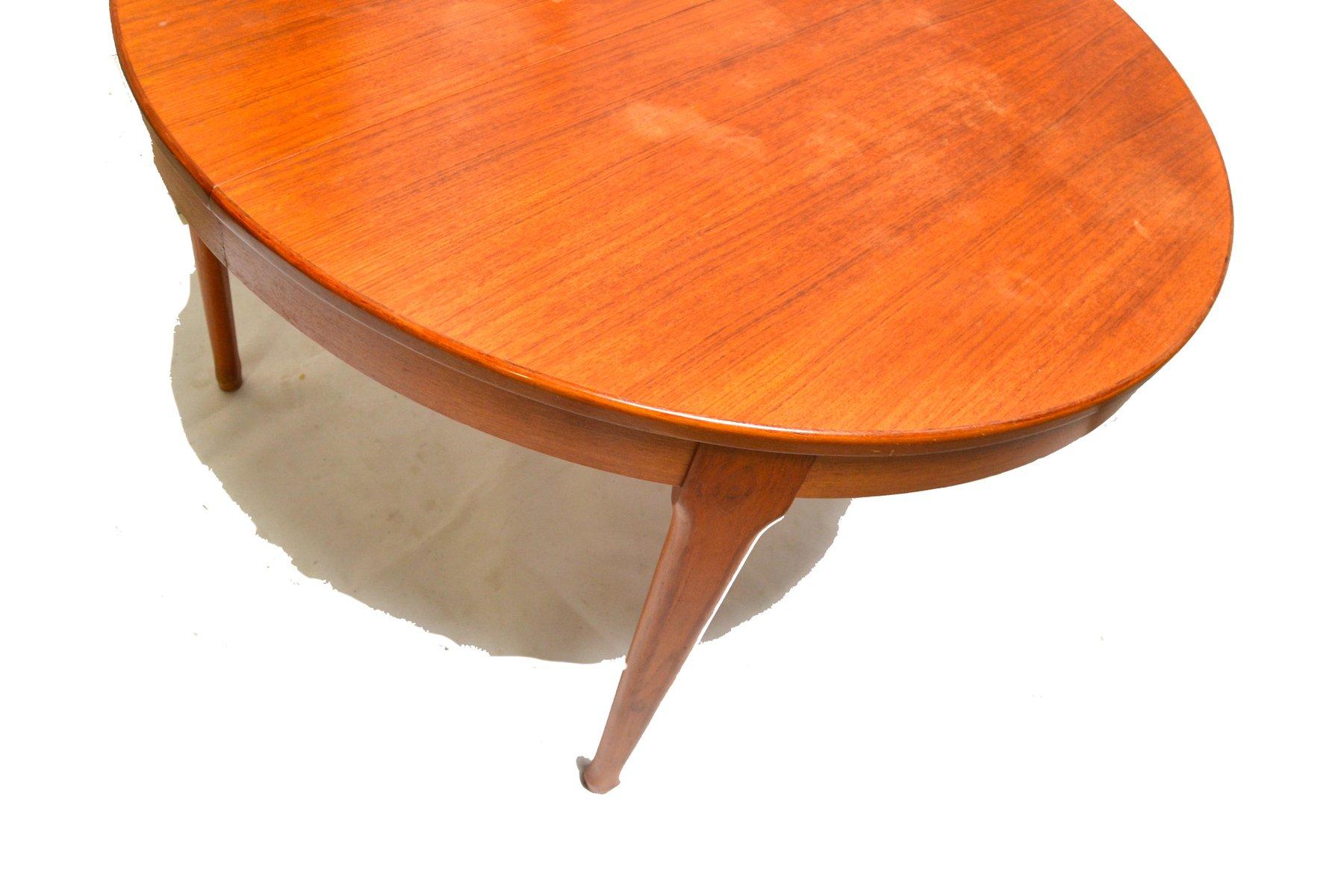 ausziehbarer runder vintage esstisch von meubles tv bei. Black Bedroom Furniture Sets. Home Design Ideas
