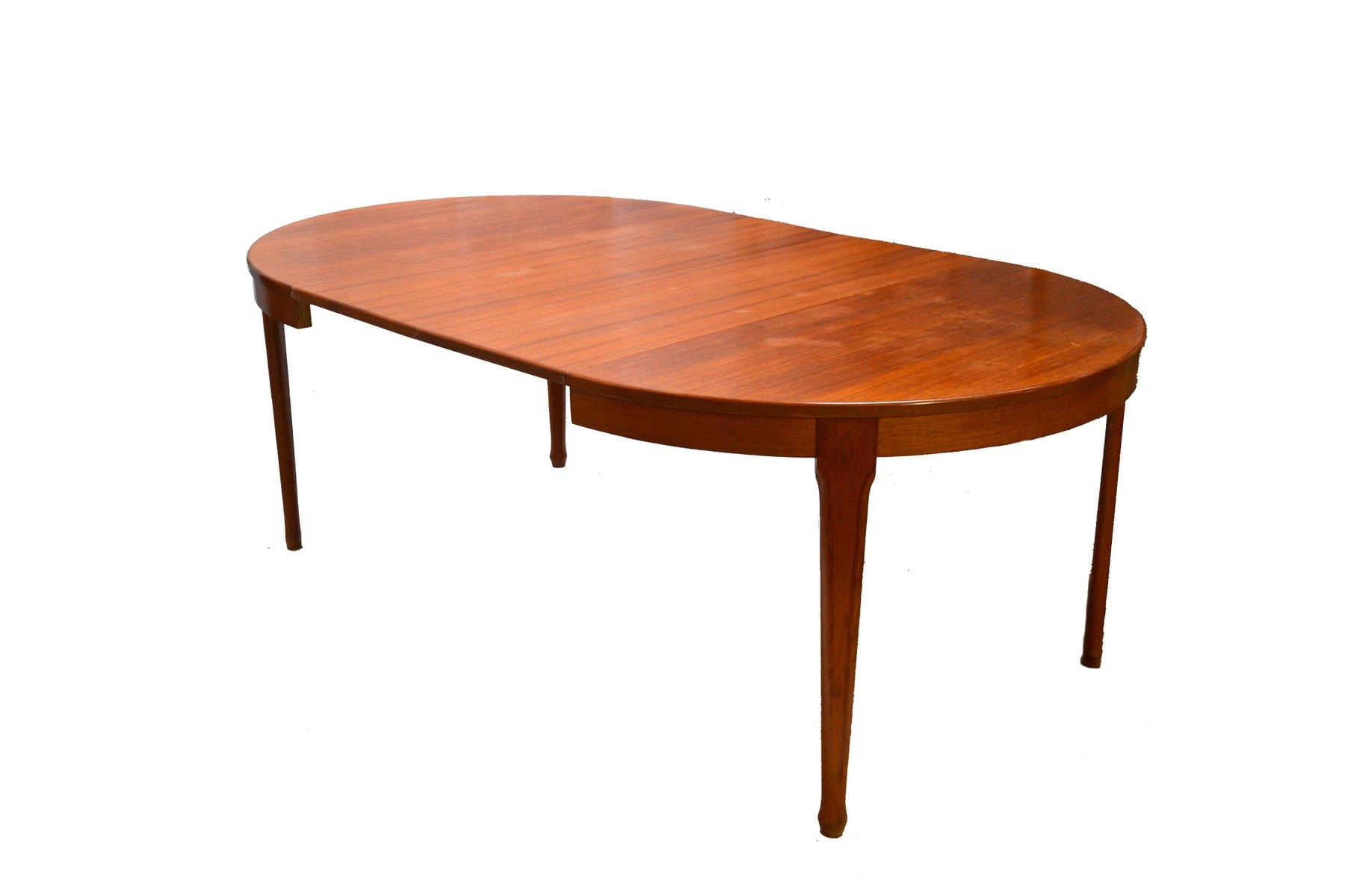 ausziehbarer runder vintage esstisch von meubles tv bei