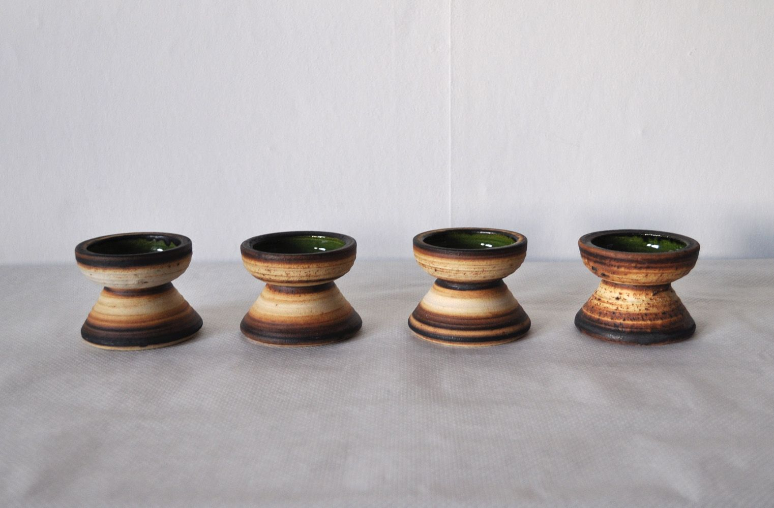 Charming Vintage Ceramic Candle Holders By Brigitte Andrzejak, Set Of 4 For Sale At  Pamono