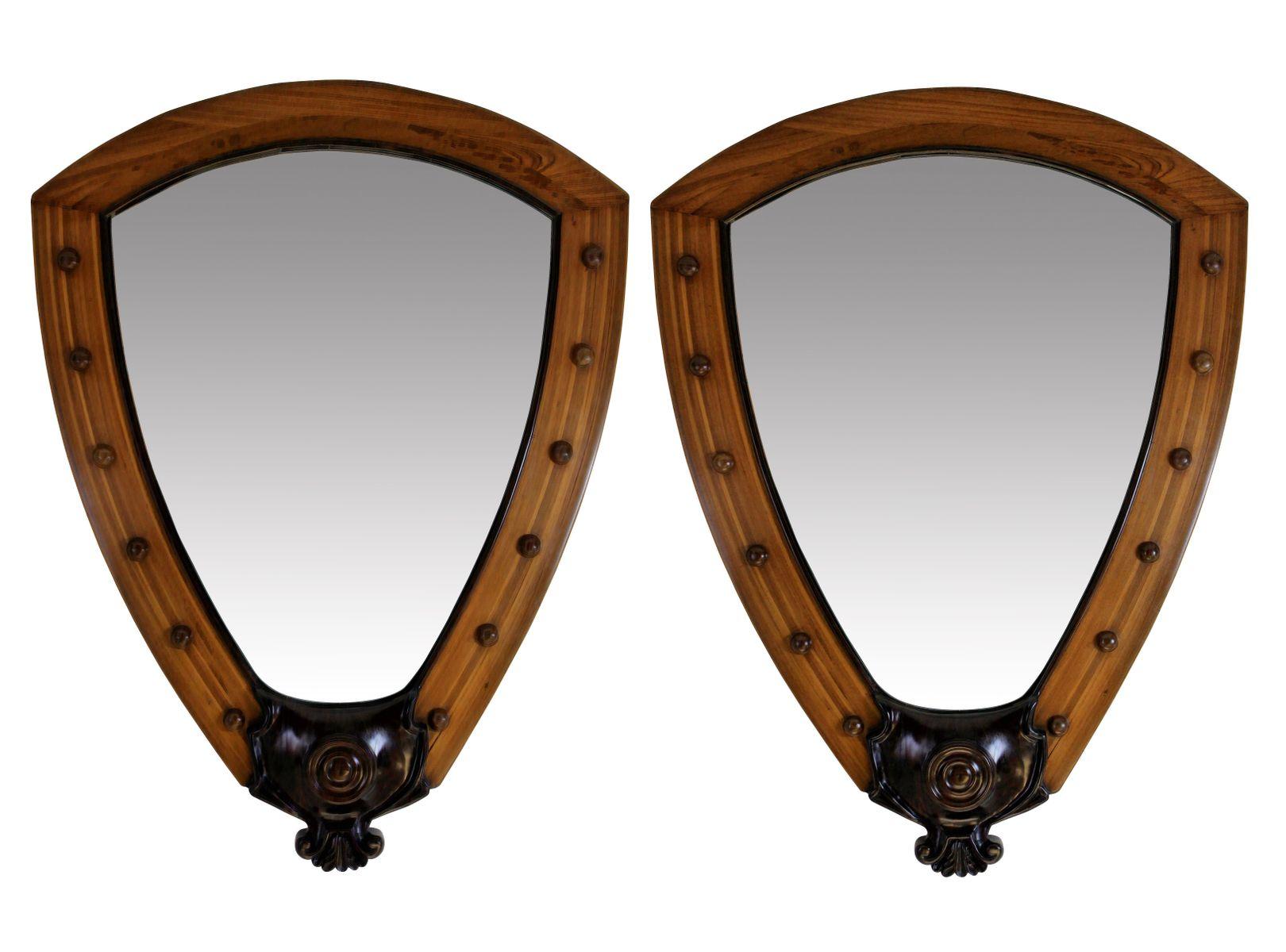 gro e wei e vintage white star line kreuzfahrtschiff spiegel 2er set bei pamono kaufen. Black Bedroom Furniture Sets. Home Design Ideas