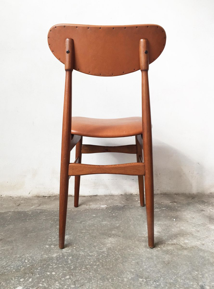 Teak side chairs 1960s set of 6 for sale at pamono for Side chairs for sale