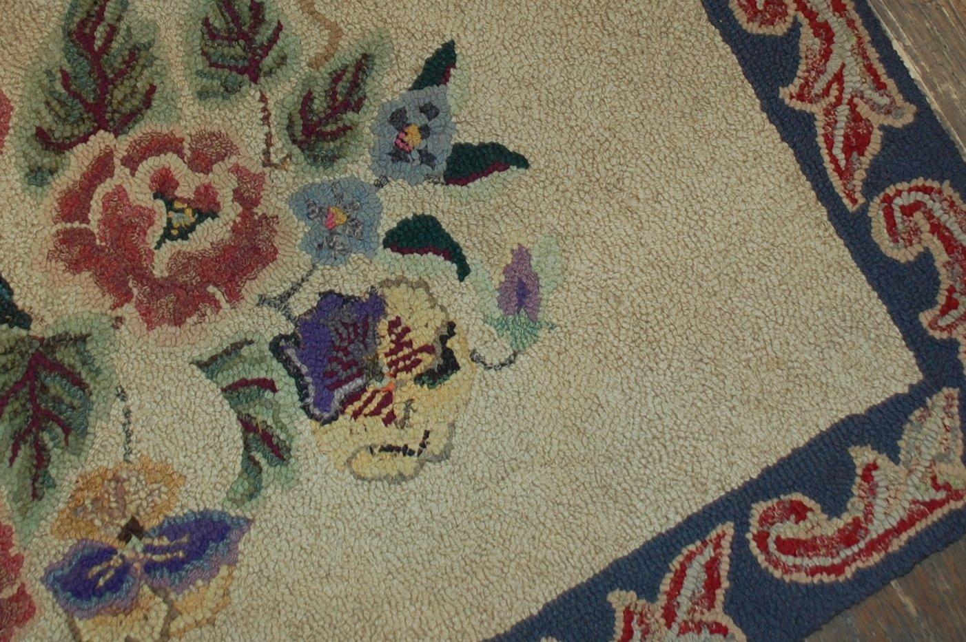antiker handgekn pfter amerikanischer teppich 1900er bei pamono kaufen. Black Bedroom Furniture Sets. Home Design Ideas