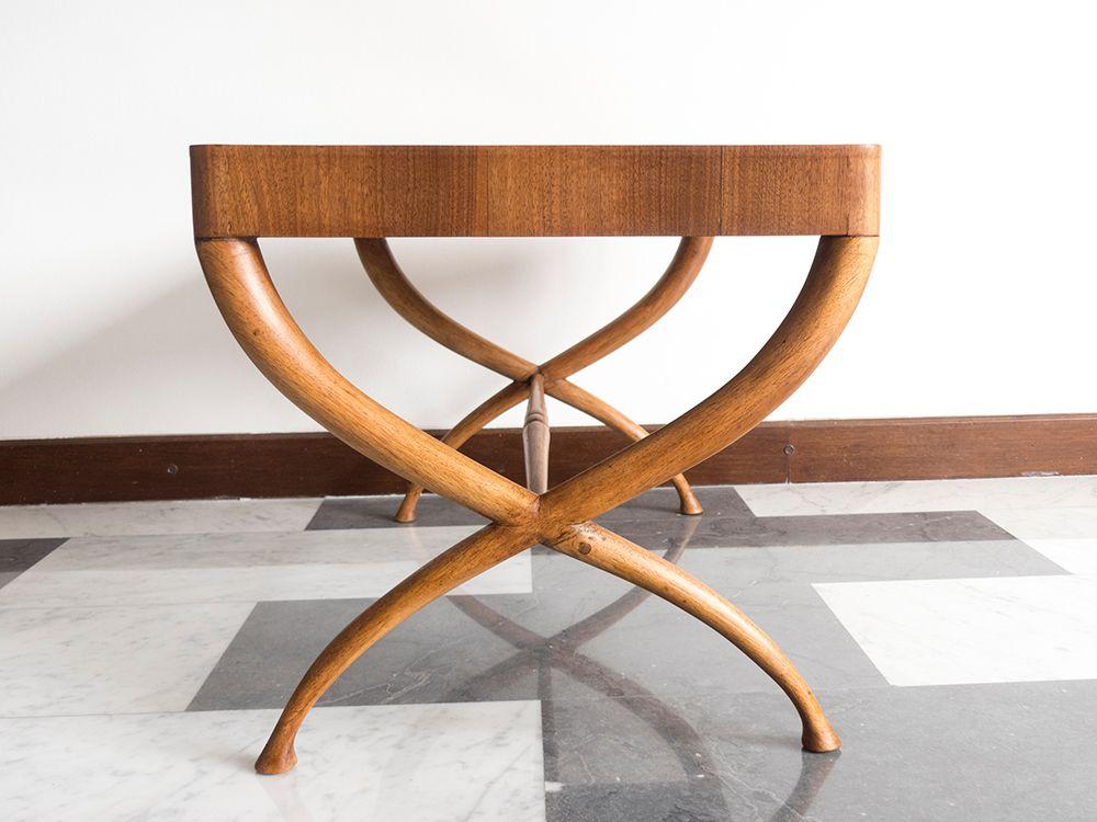 italian wood furniture. Architectural Italian Wooden Coffee Table, 1940s Wood Furniture 2