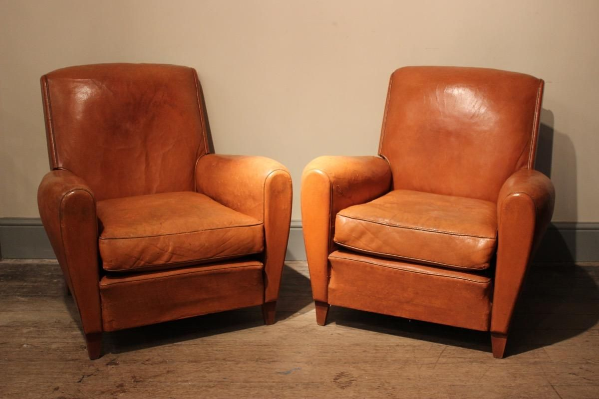 French Club Chair #31 - French Club Chairs 1940s Set Of 2 For At Pamono