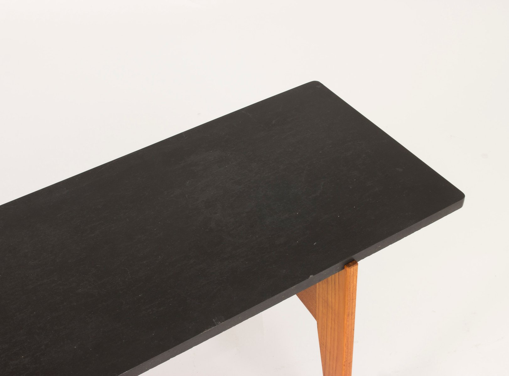 Teak and Black Marble Coffee Table by Hans Agne Jakobsson 1950s