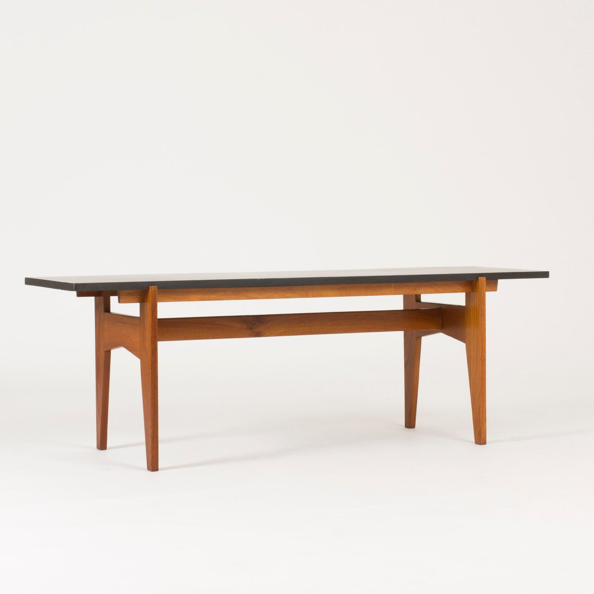 Teak and Black Marble Coffee Table by HansAgne Jakobsson 1950s for