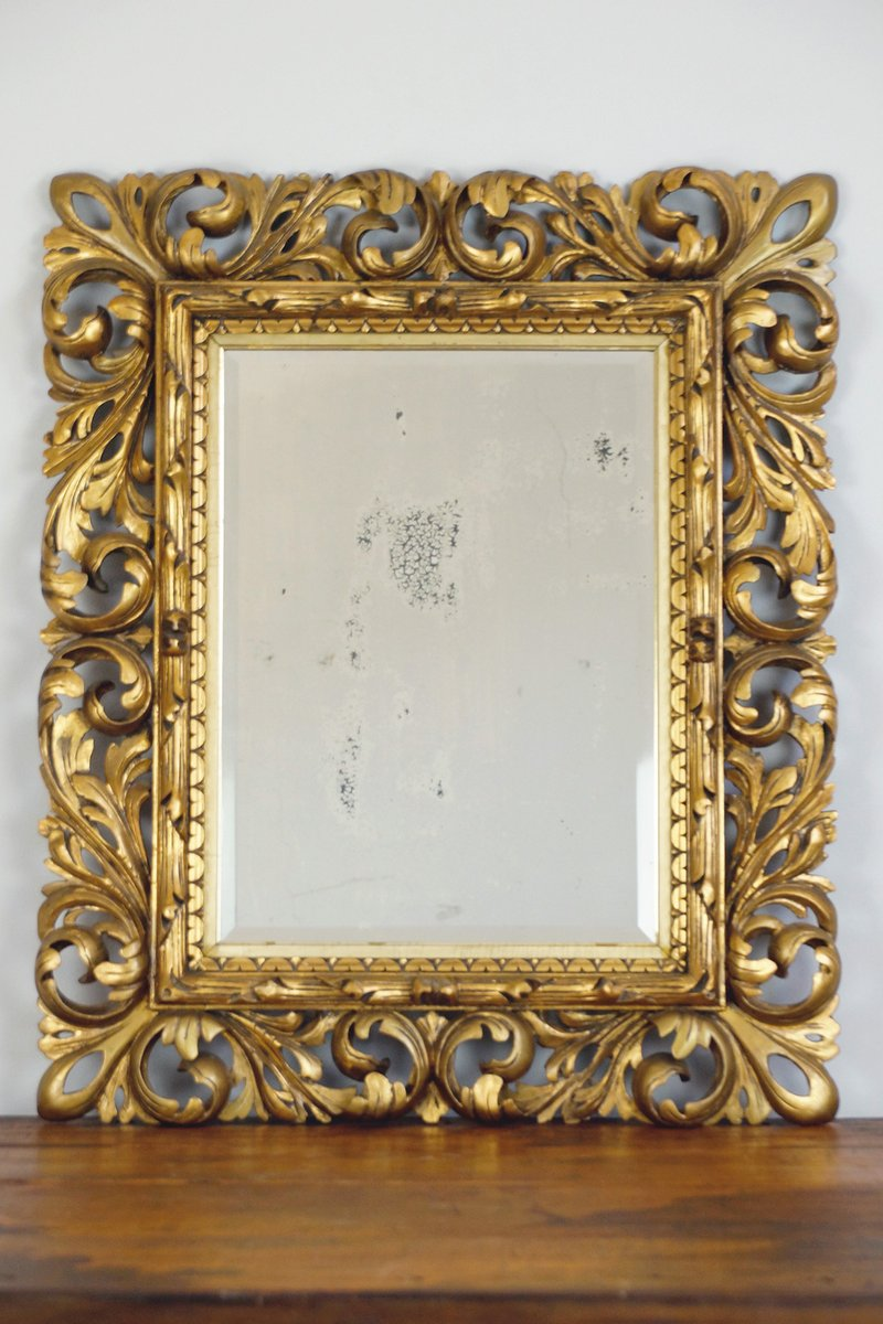 18th century baroque mirror with carved wooden frame for sale at 18th century baroque mirror with carved wooden frame jeuxipadfo Image collections