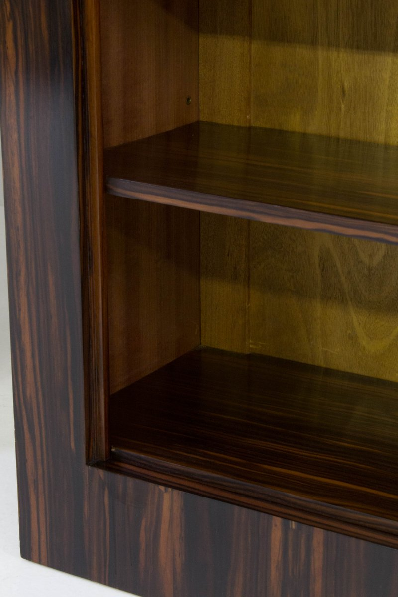 art deco macassar ebenholz b cherregale von h wouda f r pander 1920er 2er set bei pamono kaufen. Black Bedroom Furniture Sets. Home Design Ideas