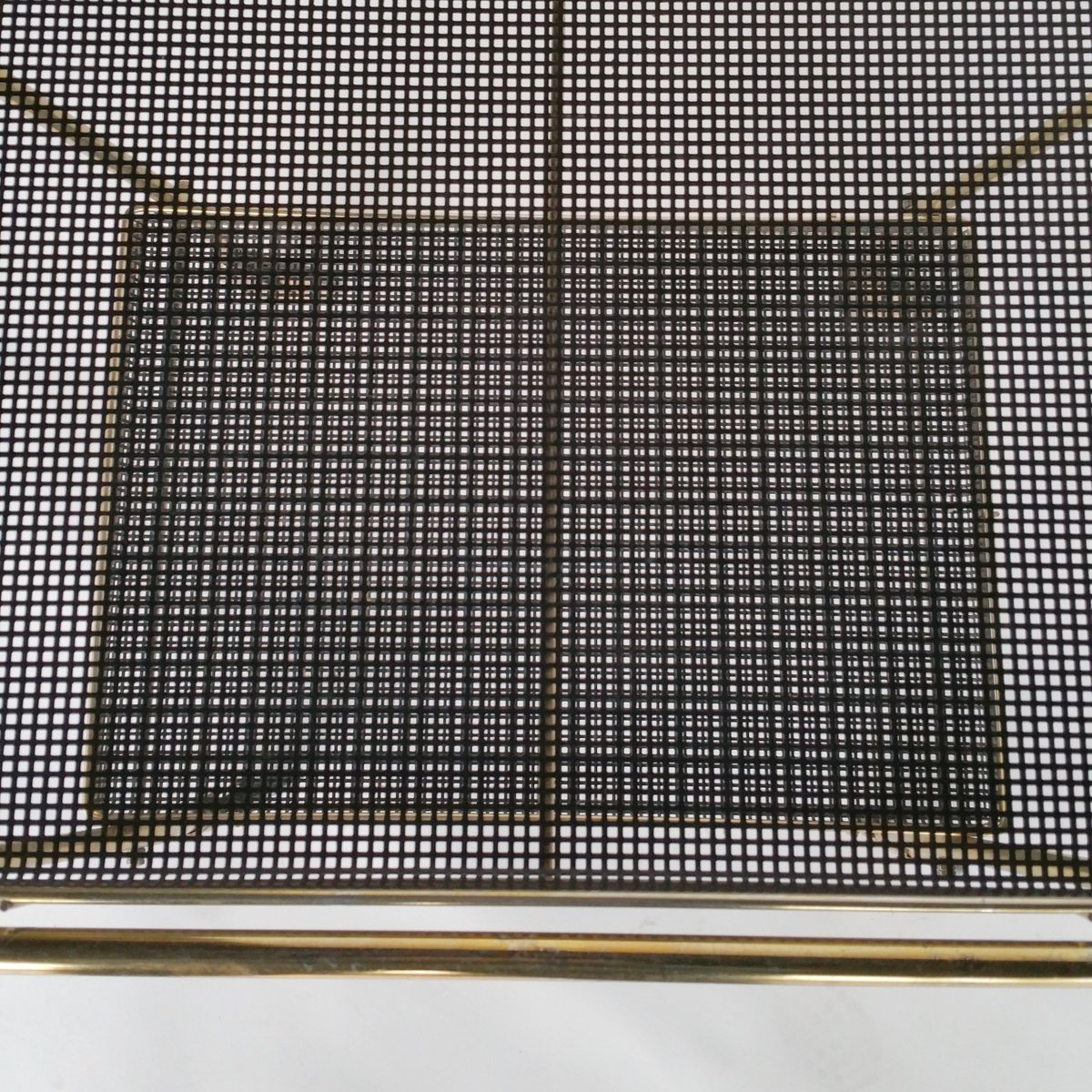 servierwagen aus messing metall 1950er bei pamono kaufen. Black Bedroom Furniture Sets. Home Design Ideas
