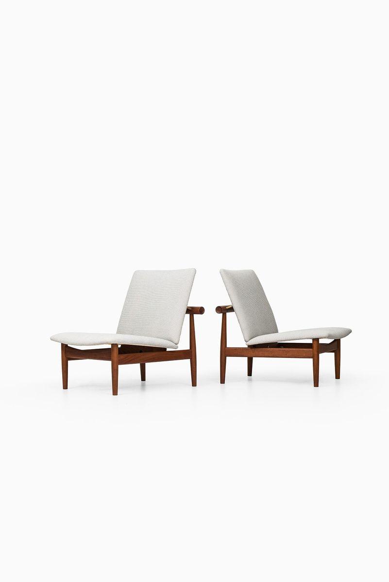 wei e mid century fd 137 sessel von finn juhl f r france. Black Bedroom Furniture Sets. Home Design Ideas