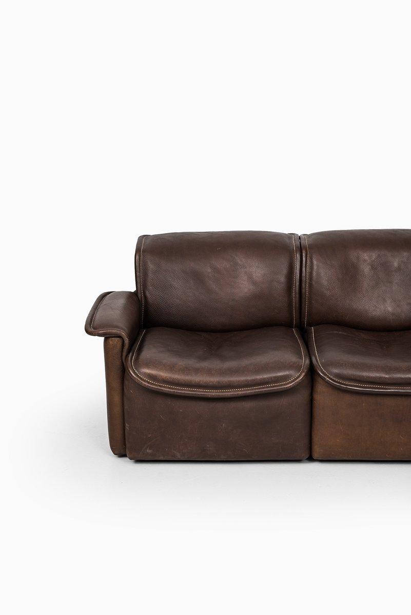 schweizer ds 12 sofa aus braunem leder von de sede 1970er bei pamono kaufen. Black Bedroom Furniture Sets. Home Design Ideas
